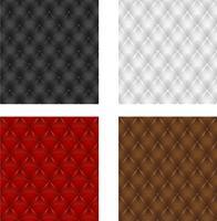 Ställ mångfärgad läderklädsel sömlös bakgrund vektor
