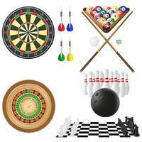 Ikone von Spielen für Freizeitvektorillustration