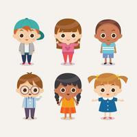 Kinder-Zeichensatz vektor