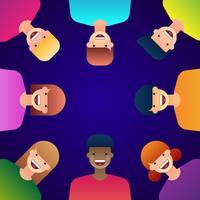 Multiracial Barn Vektor Illustration
