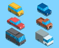 Isometrische Transport ClipArt Set