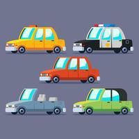 Städtischer Transport Clipart Set