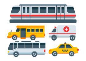 Vektor der öffentlichen Verkehrsmittel