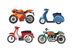 Motor Bike Fahrzeug Set vektor