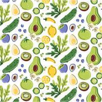 Hälsosam mat sömlösa mönster vektor