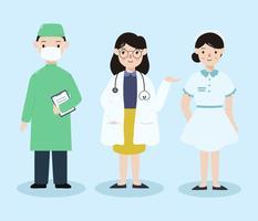 Gesundheitspflege-Charaktere vektor