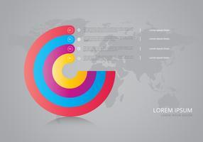 Unternehmensziele Infografik vektor