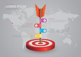 Ziele-Infografik zusammenarbeiten. Teamarbeit Infografik. vektor