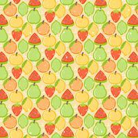 Vector Seamless Färgglada Frukt Mönster