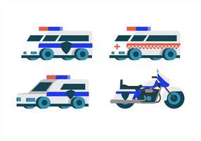 Polizei Transport Clipart Set