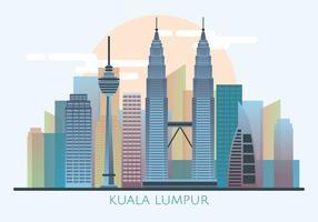 Kuala Lumpur Skyline-Vektor vektor