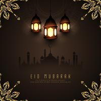 Abstrakt Eid Mubarak islamisk bakgrundsdesign