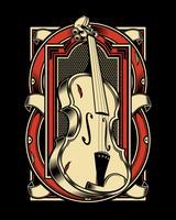 Viola Musikinstrument String. Vektor Handzeichnung