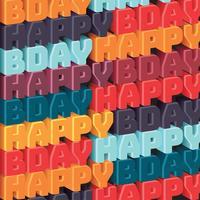 Grattis på födelsedagen mönster vektor