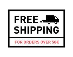 Kostenloser Versand. Für Bestellungen über 50 €. Abzeichen mit LKW-Symbol. vektor