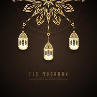 Abstraktes stilvolles Hintergrunddesign Eid Mubarak vektor