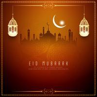 Abstraktes Eid Mubarak islamisches Hintergrunddesign vektor