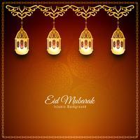 Abstrakt Eid Mubarak stilig bakgrundsdesign
