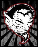 Lucifer, böse, satanische Dämonenvektor-Handzeichnung