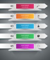 Hylla, stift, klipp, papper - företag infographic. vektor
