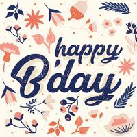 Alles Gute zum Geburtstag Vector Design