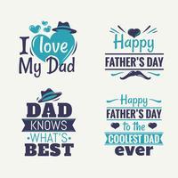Vektorelement-Satz des glücklichen Vatertags vektor