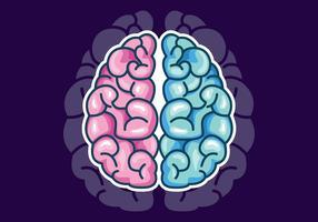 Vektor des menschlichen Gehirns Hemispheres