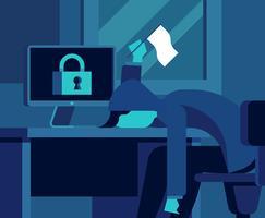 Cyber-Sicherheits-Illustration vektor