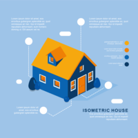 Isometrische Hausvektor vektor