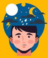 Mental hälsa illustration
