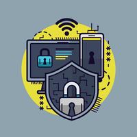 cybersäkerhetsvektor