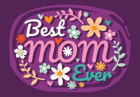 Mamma typografi Vector