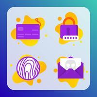 Cyber-Sicherheits-Icons