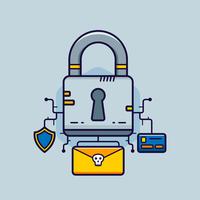 Cyber-Sicherheitsvektor vektor