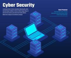cyber säkerhet illustration vektor