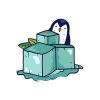 Eiswürfel-Vektor-Cartoon vektor