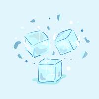 Eiswürfel-Vektor vektor