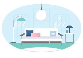 Vektor Designer Zimmer Illustration