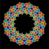 Marockansk utsmyckad kakel cirkel ram vektor