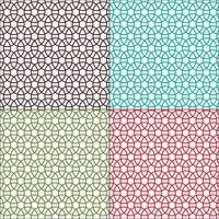 nahtlose ineinandergreifende Kreise geometrische Muster vektor