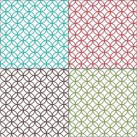 Marockansk kontur interlocking cirklar kakel mönster vektor