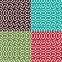 sömlösa böljande marockanska geometriska mönster vektor