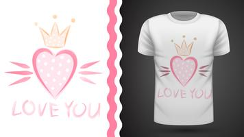 Söt prinsessa - idé för tryckt-shirt