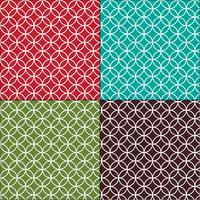 Marockanska interlocking cirklar kakel mönster vektor