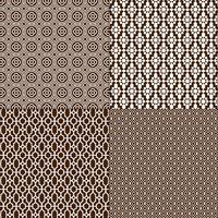 mörkbruna och vita marockanska mönster vektor