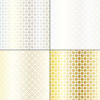 metallisk silver och guld marockanska geometriska mönster vektor