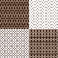 bruna marockanska geometriska mönster vektor