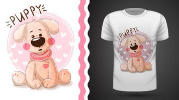 Gullig valp - idé för utskriftst-shirt