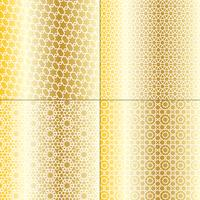 vita och metalliska guld marockanska mönster vektor