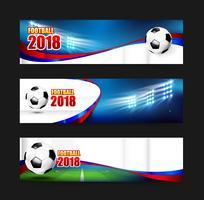 Fußball Fußball 2018 Webfahne 001 vektor